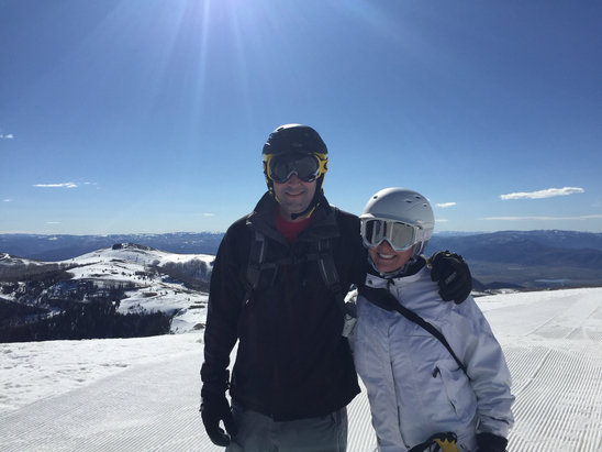 Deer Valley Resort - Get our there early and ski EMPIRE first, it softens first so you can avoid the other icy runs. We just skied fri/sat/sun. Pretty messy by 1 so get first chair. Still had a great time, still worth it even though there are flowers blooming