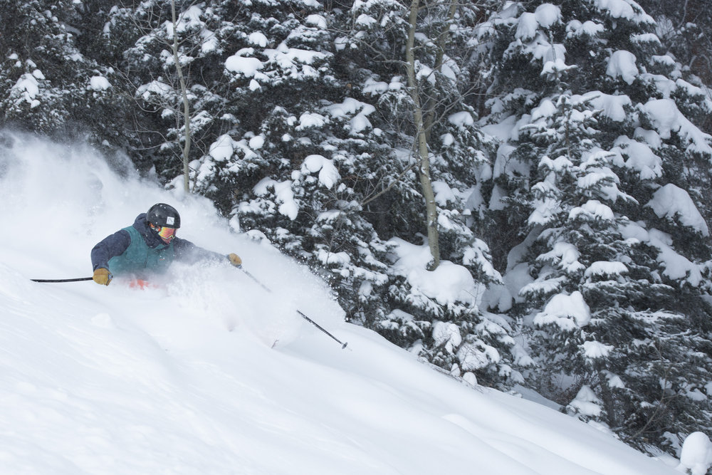 Catching fresh powder at Purgatory Resort winter 2014/2015 - ©Kim Oyler, Purgatory Resort