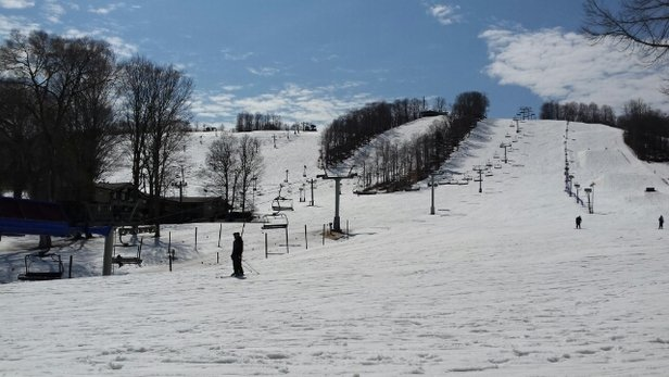 Boyne Mountain Resort - Slushy today in the afternoon - ©HS