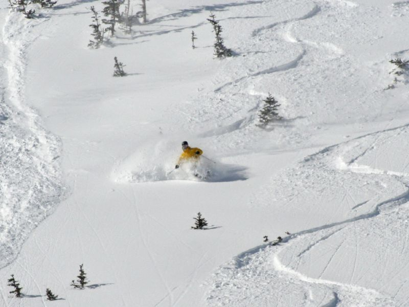 Snowboarders find powder in Park City, Utah