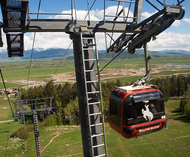 Gondola at Jackson Hole, WY in summer