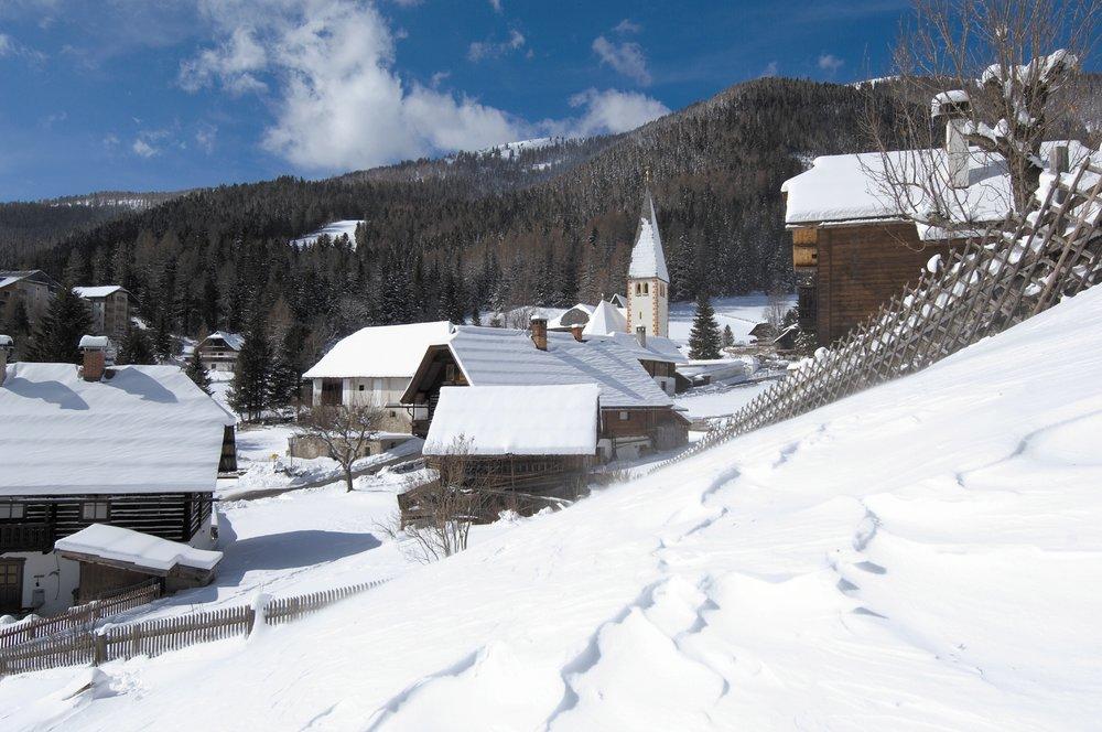 Scenic village of St. Oswald, Bad Kleinkirchheim, Austria