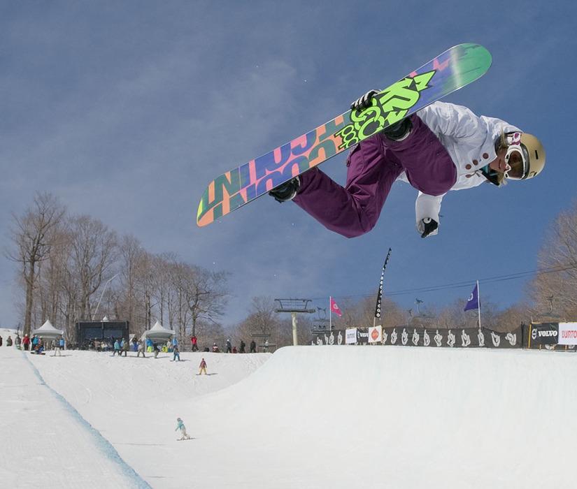 Gretchen Bleiler at Burton U.S. Open Snowboarding Championships at Stratton