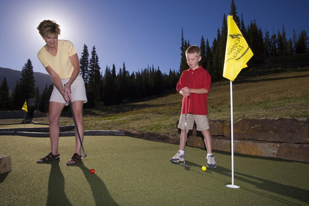 Copper mini-golfers.