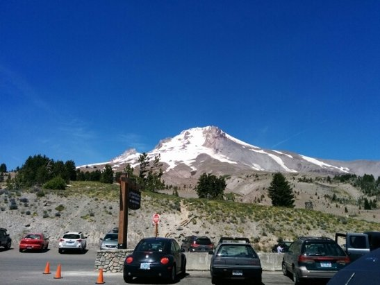 Timberline Lodge - You can't complain if you go up. You're riding in the middle of summer. it was my first time though. Clearly a very low snow year. Down to 2 runs. If you want to get your summer turns, do it sooner rather than later. I don't think they can hold out too much longer.
