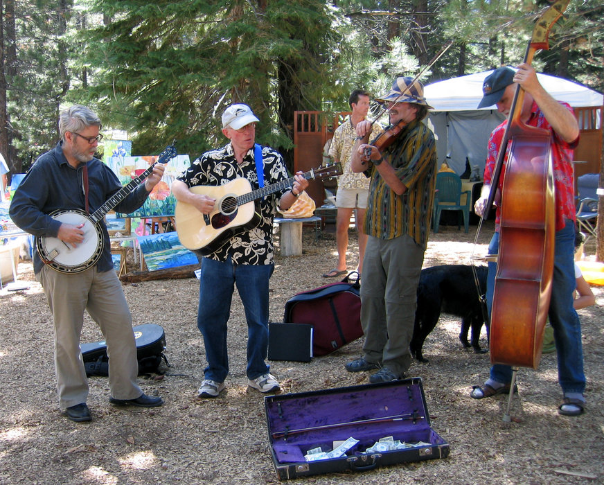 Musicians at the Mammoth Festival of the Arts.