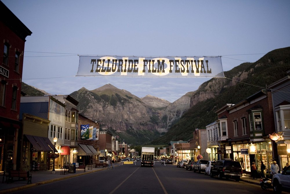 Telluride's Main Street during the Film Festival.