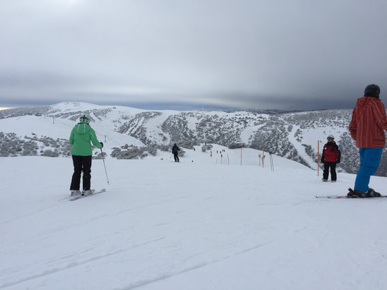 Mt. Hotham - 30cm of fresh pow, not all run open but still good for a day's shred sesh  - ©Rickjamesbitch iPhone