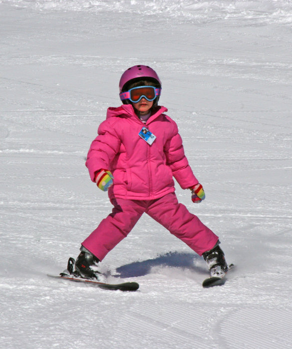 Child skiing at Wild Mountain, MN