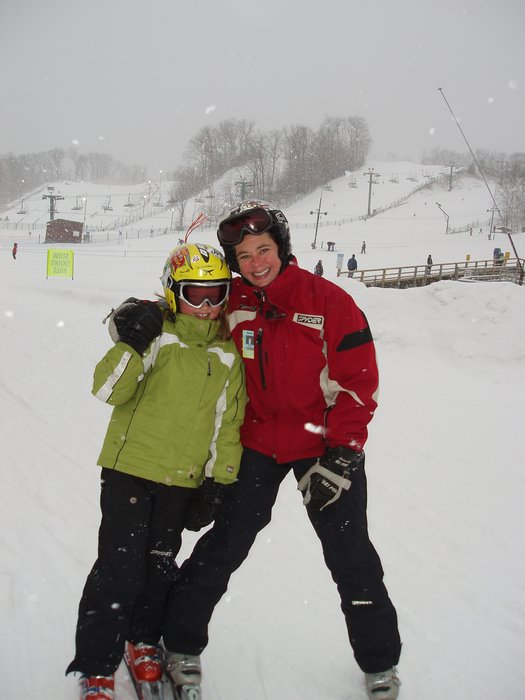 Young skier and instructor at Wild Mountain, MN