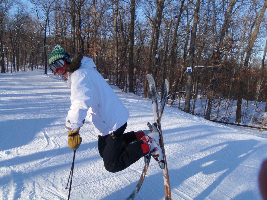 Skier at Wild Mountain, MN Christmas 2008