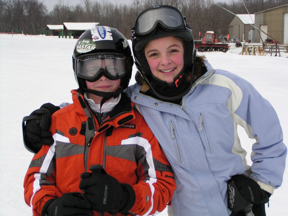 Will and Liv pause for a photo at Wild Mountain, MN