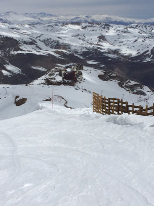 Valle Nevado - Not bad for spring skiing! - ©tkendrick's iPhone