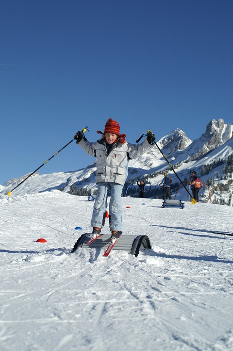 Kid skier, Chantal Bourreau/La Marmotte Bleue