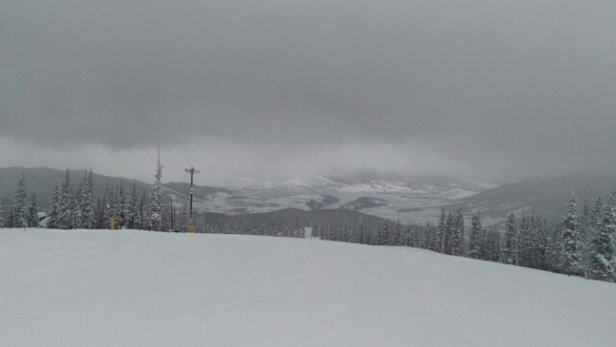 Keystone - getting skied off quick but another storm has moved in with blessing snow. More runs have been opened but probably temporarily to get them packed down for grooming later tonight. - ©tcostin1080