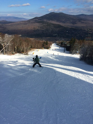 Bretton Woods - Conditions are very nice today. Beginner & 2 intermediate trails.  - ©DWB-iPhone