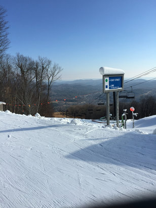 Okemo Mountain Resort - Okemo was great today. Nor'easter and upper World Cup were in great shape no lines great day! - ©Jason