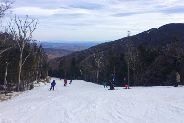 Killington Resort - Not a lot of trails open, but enough for top to bottom skiing. Lots of people though. It's starting to get slick and slushy in some spots. - ©GratefulWanderer