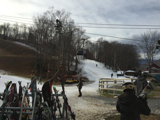 Loon Mountain - Enough snow for a half day! - ©Jon's iPhone 6
