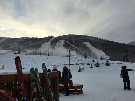 Park City - This is what it looked like on 11/27.  Four lifts open. - ©Andy's iPhone 6