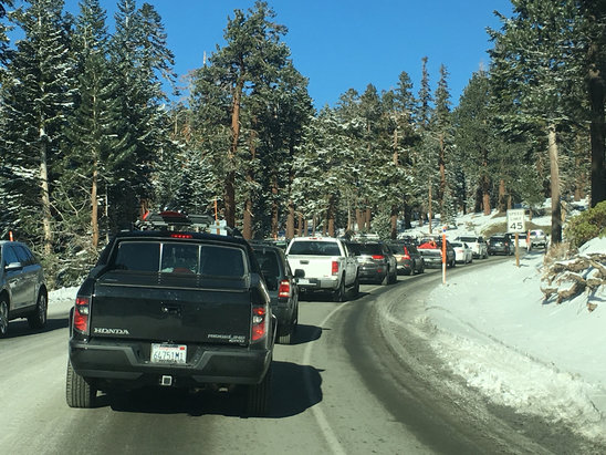Mammoth Mountain Ski Area - Traffic feels like I'm back at home on the 405!?  - ©iPhone