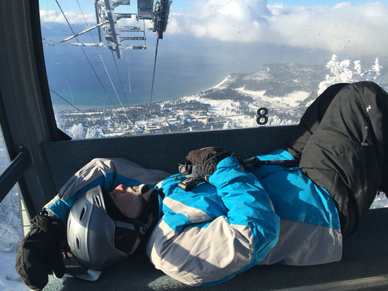 Heavenly Mountain Resort - All that fresh snow wore him out! - ©adennis's iPhone (2)