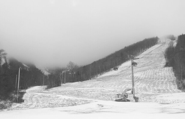 Killington Resort - finally got some natural snow! They are actively blowing snow at the top so it is pretty much white out conditions but still a blast.no lines at all.  - ©hunterjumper617