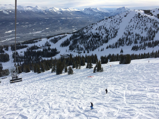 Marmot Basin - SO MUCH FUN! Snowboarded Wed and Thurs Dec 9-10.  Knob chair was open Thurs Dec 10.  Incredible early season conditions, soft deep powder most places.  Watch out for early season hazards (rocks). - ©Naomi's iPhone