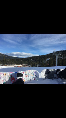 Sierra-at-Tahoe - I went on Sunday, December 6. Perfect powder. Not all the runs are open yet, but definitely a couple good runs. Was windy in the morning with a chance of rain, but looked out with no rain and the sky clearing up. Perfect day! - ©Deanna's iPhone