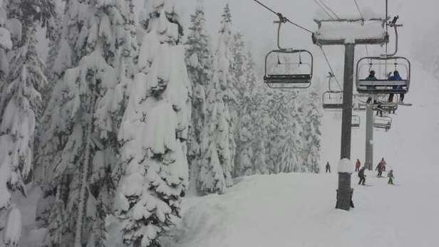 The Summit at Snoqualmie - Loads of snow.  Lots of good powder. I have never seen conditions so good at Summit central. 7