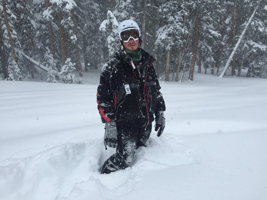 Monarch Mountain - Absurd amounts of powder.  Waist deep in some areas  - ©iPhone