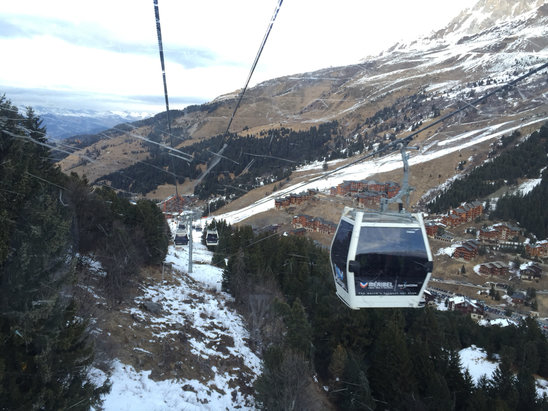 Meribel - So little snow down low that we took the gondola down today.  - ©Jon iPhone