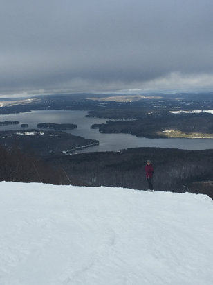 Mount Sunapee - Spring skiing conditions on 10 trails.  Crowded in the am.   - ©iPhone 62p (2)