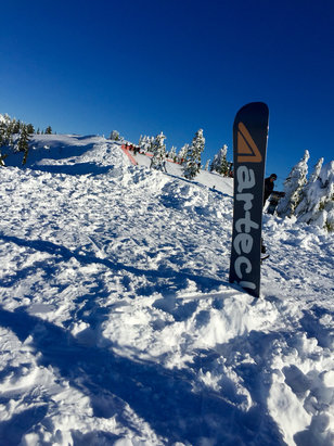 Cypress Mountain - Snow is pretty good, starting to have a few icy spots on sunny runs especially, but great week to ride altogether. - ©Paul
