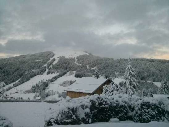 Les Gets - What a difference a day makes, snow from midday yesterday to late last night. powder snow  - ©Chalet Uxello