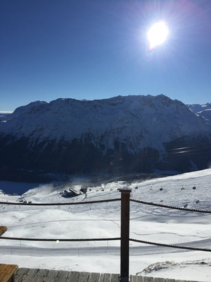 St. Moritz - Corviglia - Firsthand Ski Report - ©Nariman's Iphone 6