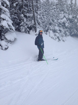 Le Massif - Yesterday's conditions  - ©Brian's iphone