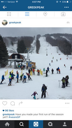 Greek Peak - Greek peak is open today, so idk why it says it's not - ©user