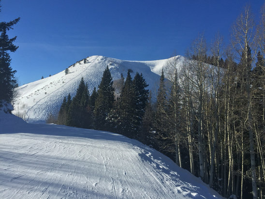 Park City - Great conditions.  Still not a big snowpack, but well groomed runs and accessible terrain with adequate snow off piste. - ©greg's iPhone