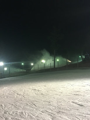 Bradford Ski Area - Good conditions. Not a lot of people on weekdays after 5. Just started making snow in park.  - ©Nick's iPhone