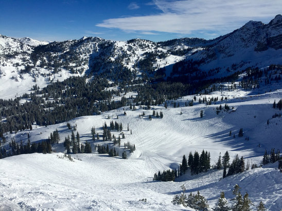Alta Ski Area - Was there on Monday. Good soft snow. The trail count is misleading--most of the lift-accessed trails are open. - ©iCommand Center