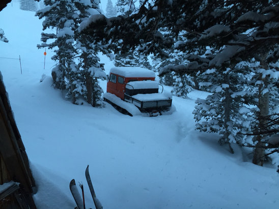 Alta Ski Area - View out of cabin window Friday January 26th  - ©iPad