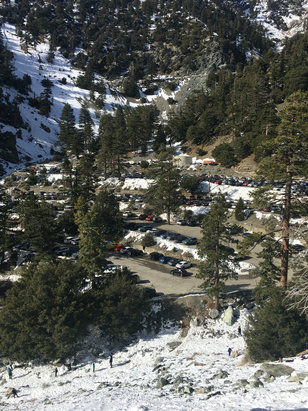 Mt. Baldy - Tubing was sold out,,thanks a lot groupon  But we played on the mountain side!  No new snow. And base was 6