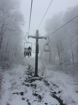 Beech Mountain Resort - Good snow. Some icy spots, but still the best in NC so far.  Someone PLEASE tell them to keep making new snow when they can! - ©iPhone