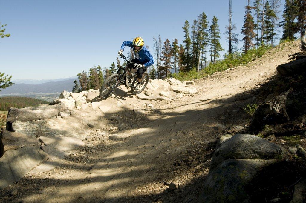 A mountain biker at Winter Park, CO.