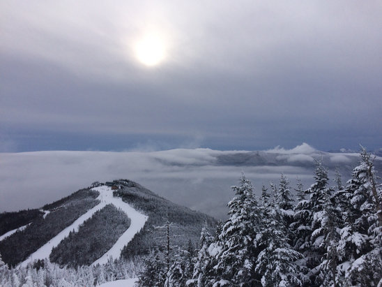Whiteface Mountain Resort - Conditions are as good as I've seen it.   Just need some more terrain.  A bit nippy out there      - ©stefan's iPhone