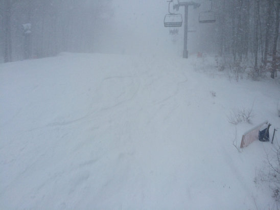 Shawnee Mountain Ski Area - Epic pocono day. Storm total was 19
