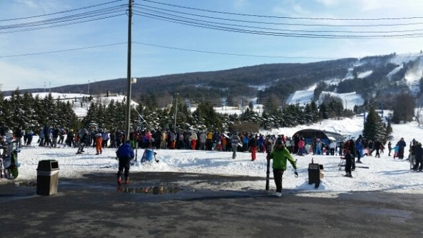 Blue Mountain Ski Area - insane lift lines Monday snow day other than that not bad. - ©almerusi50