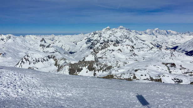 Val d'Isère - Could do with a few inches of fresh stuff but still good riding  - ©Kirk's iPhone6