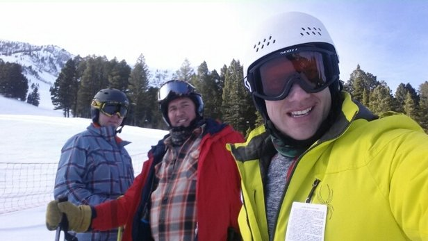Bridger Bowl - Skiied there for the first time yesterday. It was awesome! The lifts are really impressive, with a moving track, and the lifts were all 3 person lifts or more. This was great for us as a party of 3! Snow was good. Runs were fun and challenging. We skied hard and loved it. Good food and beer at the Chalet too. Top Notch across the board for the most part besides some slush due to the warmth! - ©bohlman71